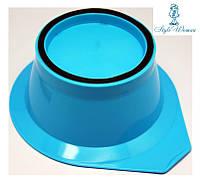 Миска для краски, окрашивания волос с резинкой голубая