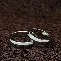 Кольца позолоченные для пары Венчальные белое золото