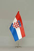 Флажок Хорватии 13,5*25 см., плотный атлас
