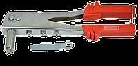 Заклепочник хромированный 4 сменные головки (2,4-4,8мм) TECHNICS