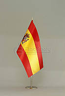 Флажок Испании 13,5*25 см., плотный атлас