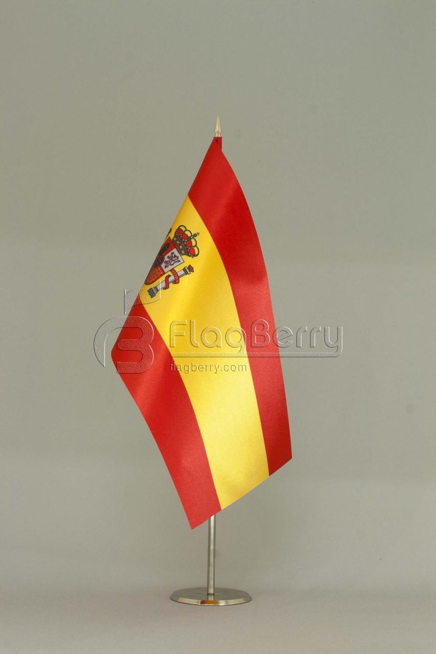 Флажок Испании 13,5*25 см., плотный атлас, фото 1