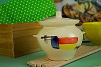Красивый  горшочек для запекания с росписью Вернисаж