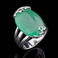 Женское серебряное кольцо (хризопраз)