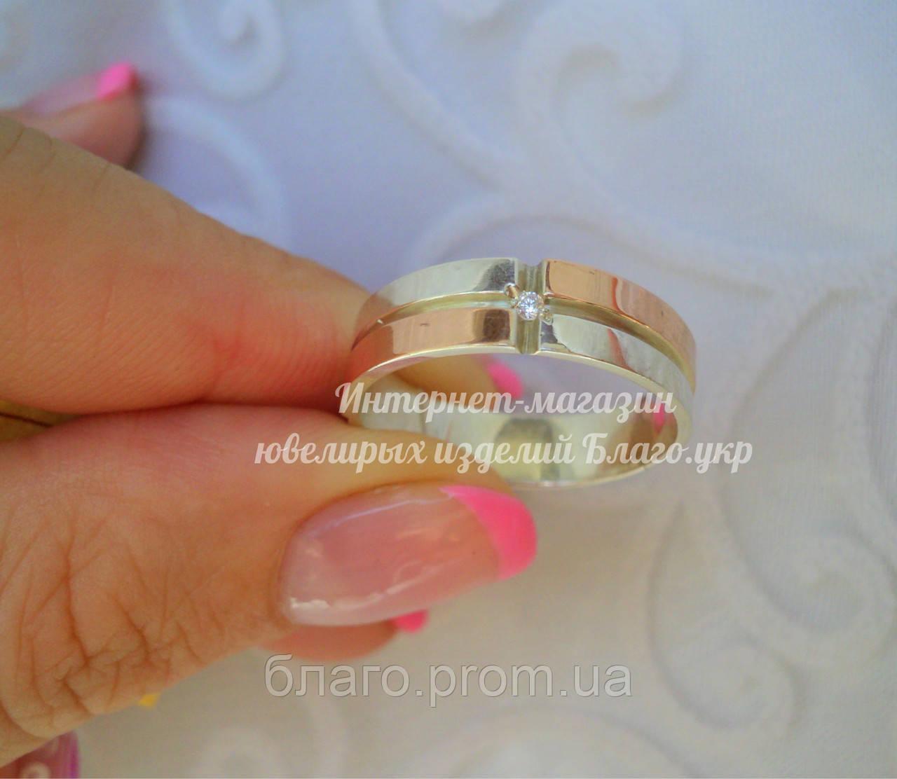 """Серебряное кольцо """"Солнце"""" унисекс 5мм"""