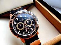 Мужские часы Ulysse Nardin черные  , магазин мужских часов