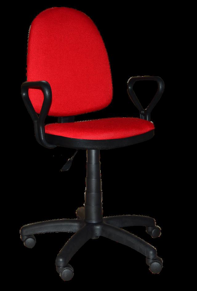 [ Prestige GTP NEW C-16 Red ] Офисное кресло для персонала c пластиковыми подлокотниками ткань Cagliari красны, фото 1