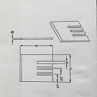 Нож для рубильной машины 320*180*15  сталь 6ХС