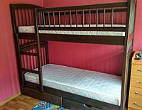 АКЦИЯ! Двухъярусная кровать-трансформер Артемон + матрасы ЭКО-42, 80*190, ольха, венге, орех