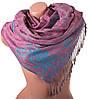 Приятный женский двусторонний палантин из пашмины 170 на 69,5 см  ETERNO (ЭТЕРНО) фиолетовый