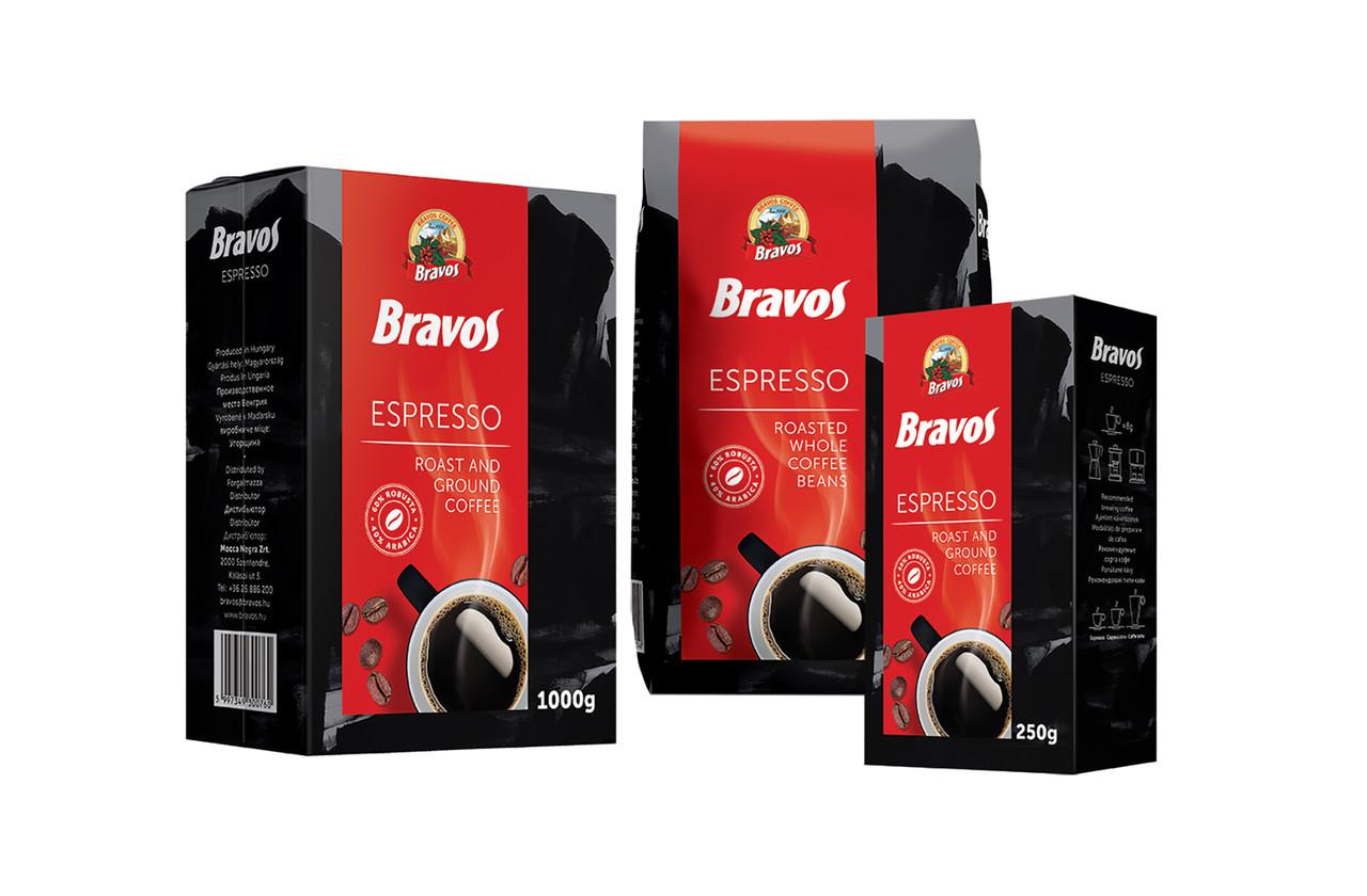 Мелена кава Bravos Espresso 1 кг