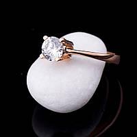 Женское золотое кольцо с фианитом