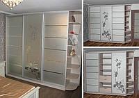 Шкаф-купе от производителя с рисунком из пескоструя, фото 1