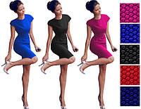 Сукня жіноча струнка червоне синє чорне, фото 1