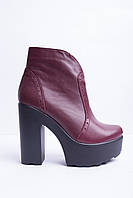 Ботинки из натуральной кожи марсала №352-1, фото 1
