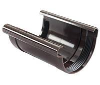 Соединитель желоба Profil 90, коричневый