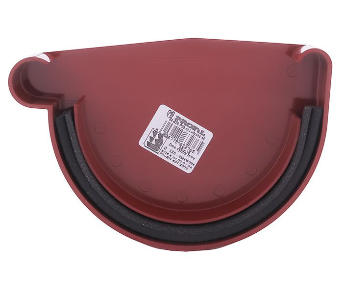 Заглушка желоба Profil левая L 130, красный