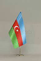 Флажок Азербайджана 13,5*25 см., плотный атлас
