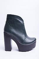 Ботинки из натуральной зеленой кожи №352-3, фото 1