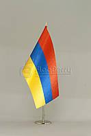 Флажок Армении 13,5*25 см., плотный атлас, фото 1