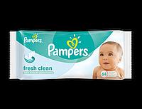 Детские влажные салфетки Pampers Fresh Clean 64 шт
