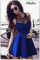 Сукня жіноча коротке без рукавів декольте з сіточкою, фото 1