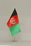 Флажок Афганистан 13,5*25 см., плотный атлас