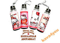 Термобутылка в чехле с ручкой Hello Kitty Стекло my bottle