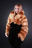 Шуба кожушок з лисиці та мутона Fox-and-mouton fur coat, фото 2