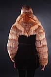 Шуба полушубок из лисы и мутона  Fox-and-mouton fur coat, фото 3