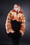 Шуба кожушок з лисиці та мутона Fox-and-mouton fur coat, фото 4