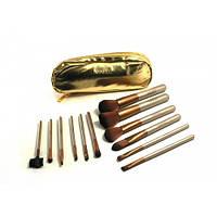 Набор кистей Naked gold 12 штук ( в кошельке)