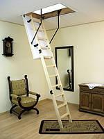 Деревянная трехсекционная чердачная лестница Oman Prima (120X70)
