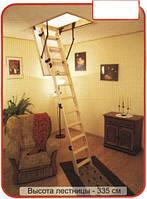 Деревянная четырехсекционная чердачная лестница Oman Termo Long (120x70)