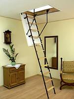 Комбинированная четырехсекционная чердачная лестница Oman Mini (80x60)