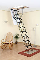Металлическая раздвижная чердачная лестница Oman Nozycowe Termo  (120x60) NT (металл/дерево)