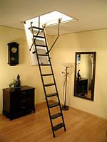 Металлическая трехсекционная чердачная лестница Oman Metal T3 120х60