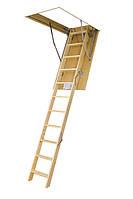 Деревянная трехсекционная чердачная лестница FAKRO LWS Smart 130х70 (305 см.)
