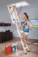Деревянная трехсекционная чердачная лестница FAKRO LWK Komfort 130х60