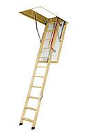 Деревянная трехсекционная чердачная лестница FAKRO LTK Termo 120х70