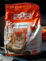 Клуб 4 лапы корм для кошек с эффектом выведения шерсти 3кг