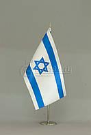 Флажок Израиля 13,5*25 см., плотный атлас
