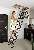 Металлическая раздвижная чердачная лестница FAKRO LST 90х60