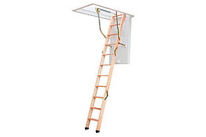 Деревянная трехсекционная чердачная лестница VELUX VELTA Стандарт NLL 3610 120х70