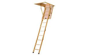 Деревянная четырехсекционная чердачная лестница VELUX VELTA Стандарт mini NLL 3620 92,5x60