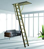 Деревянная трехсекционная чердачная лестница ROTO Esca 140x70