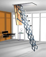 Алюминиевая раздвижная чердачная лестница ROTO Exclusiv 140x70, фото 1