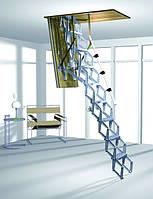 Алюминиевая раздвижная чердачная лестница с дистанционным управлением ROTO Elektro 120x60