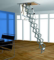 Алюминиевая раздвижная чердачная лестница ROTO Mini 120x70