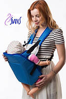 Рюкзак-кенгуру для переноски детей (аналог Womar) № 6 голубой Украина 60707